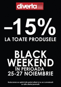 Black Weekend Diverta - 15%